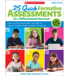 25 Quick Formative Assessments for a Differentiated Classroom-2E - Click Image to Close